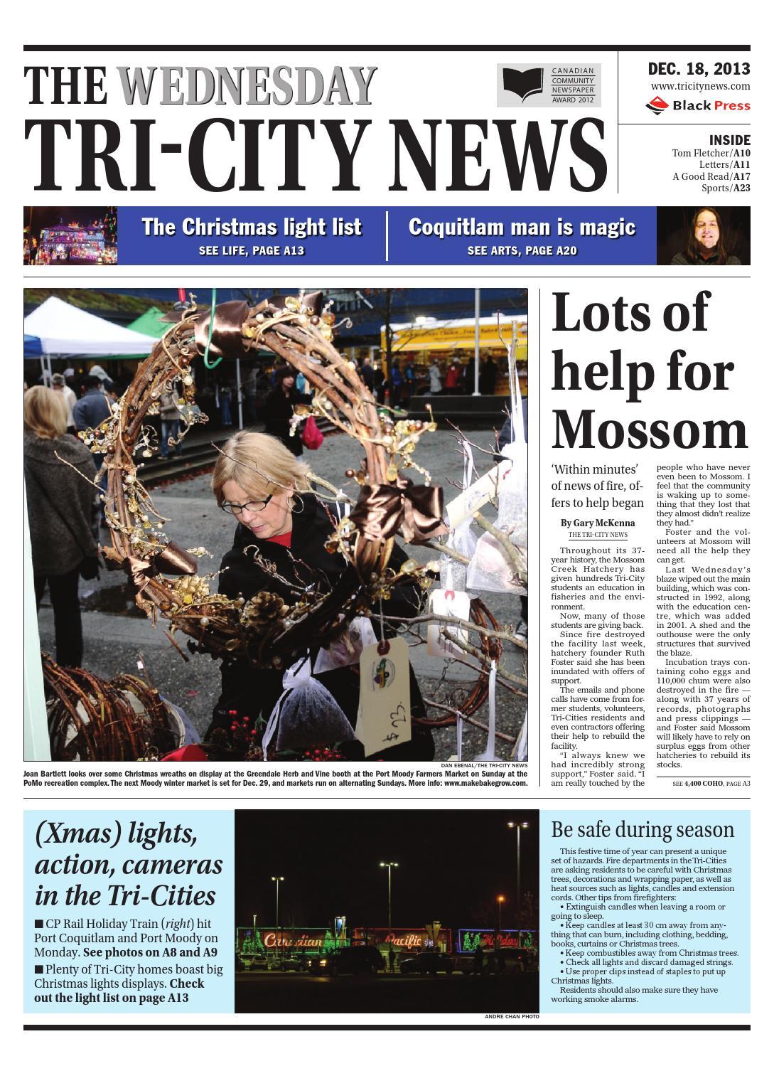 The Tri City News December 18 2013 By Black Press Issuu Christmas Lights Circuit 555 Aquarium Led Lighting