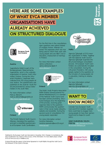 Eyca Gps4 Structured Dialogue Updated By European Youth Card