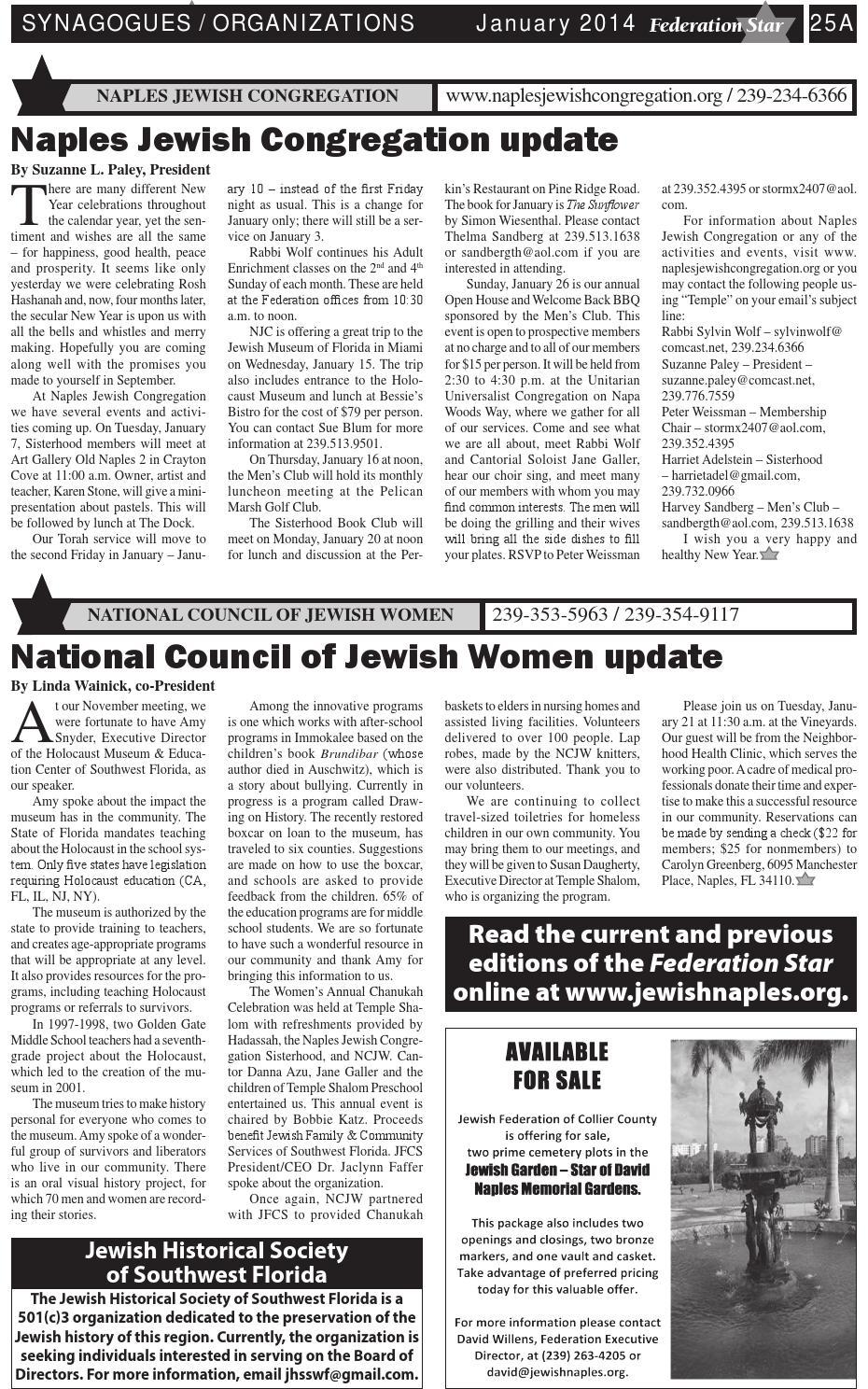 Federation Star - January 2014 by Jewish Federation of