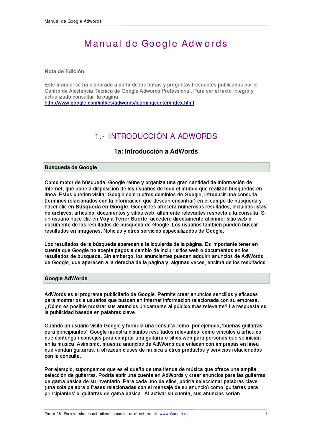 Manual google adwords by David Chupayo Paucar - issuu