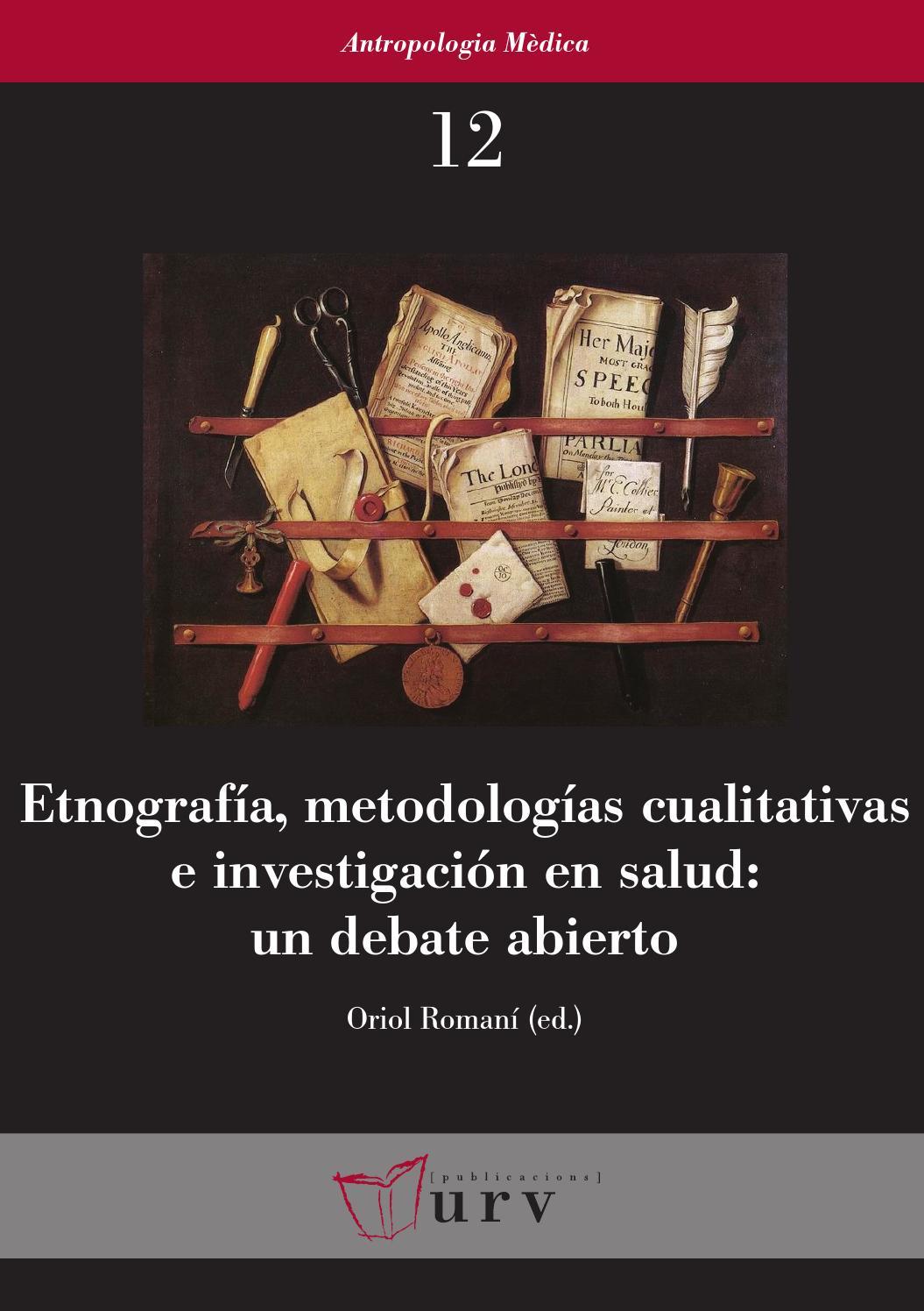 Etnografía Metodologías Cualitativas E Investigación En