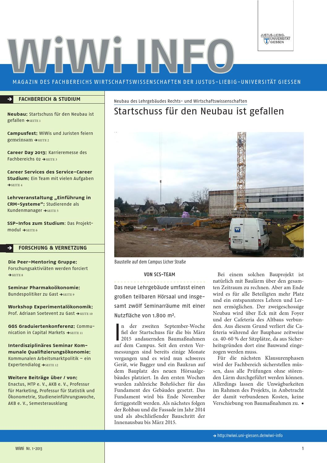 Wiwi Info 1-2013 by Fachbereich Wirtschaftswissenschaften der  Justus-Liebig-Universität Gießen - issuu