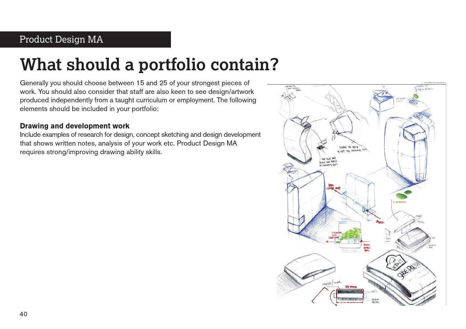School of Design - portfolio advice by De Montfort