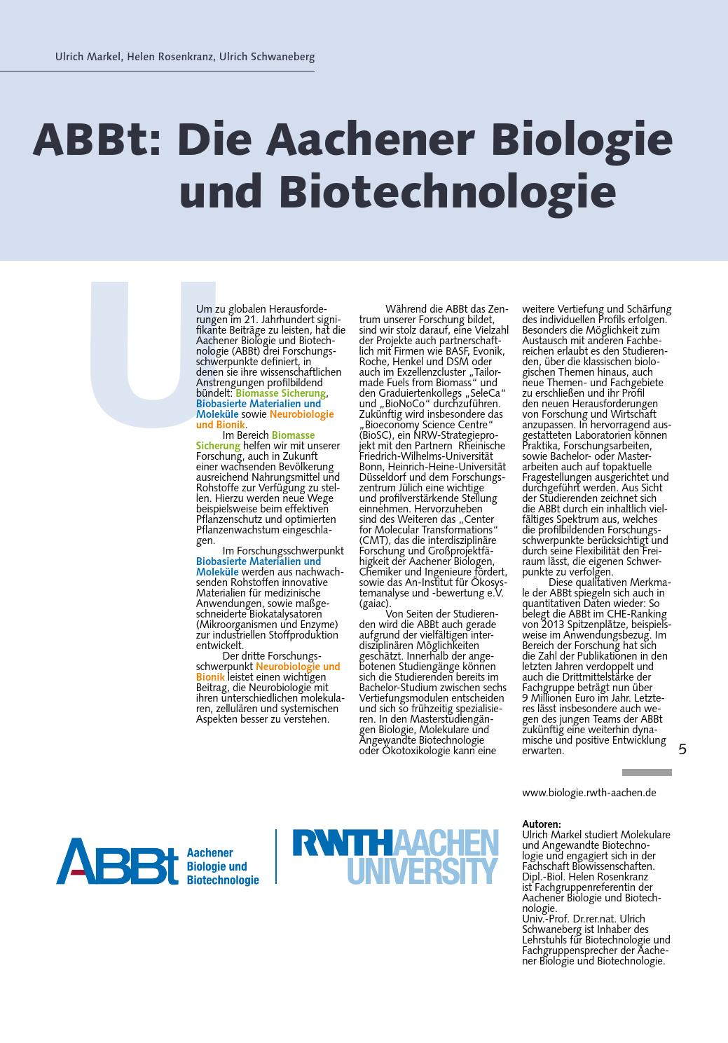 Masterarbeit rwth biotechnologie essay topics english