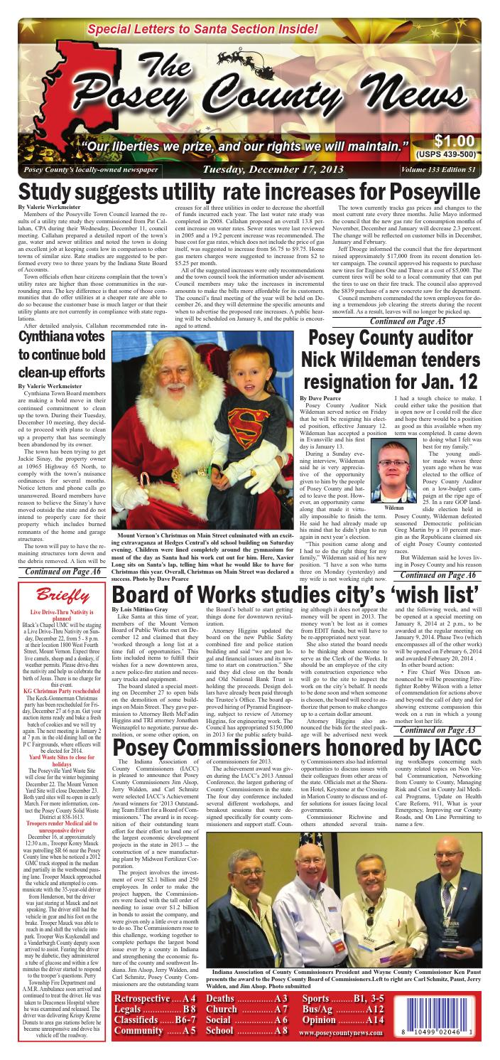 December 17, 2013 - The Posey County News by The Posey County News ...