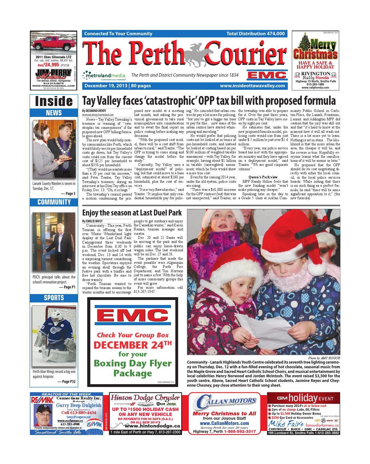 Perth121913 by metroland east the perth courier issuu fandeluxe Images