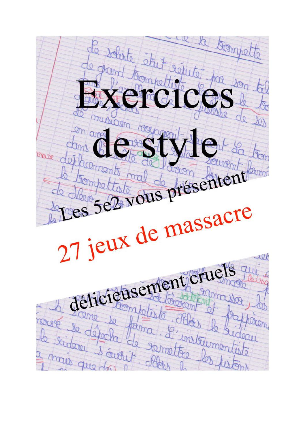 Exercices de style 5e2 by exercices de style - Issuu