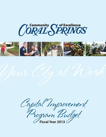 Fy2013 Adopted CIP by City of Coral Springs - issuu