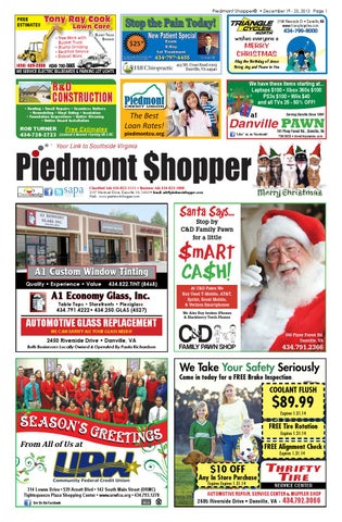 Piedmont Shopper 12.19.13 by piedmont shopper - issuu 861b60b90
