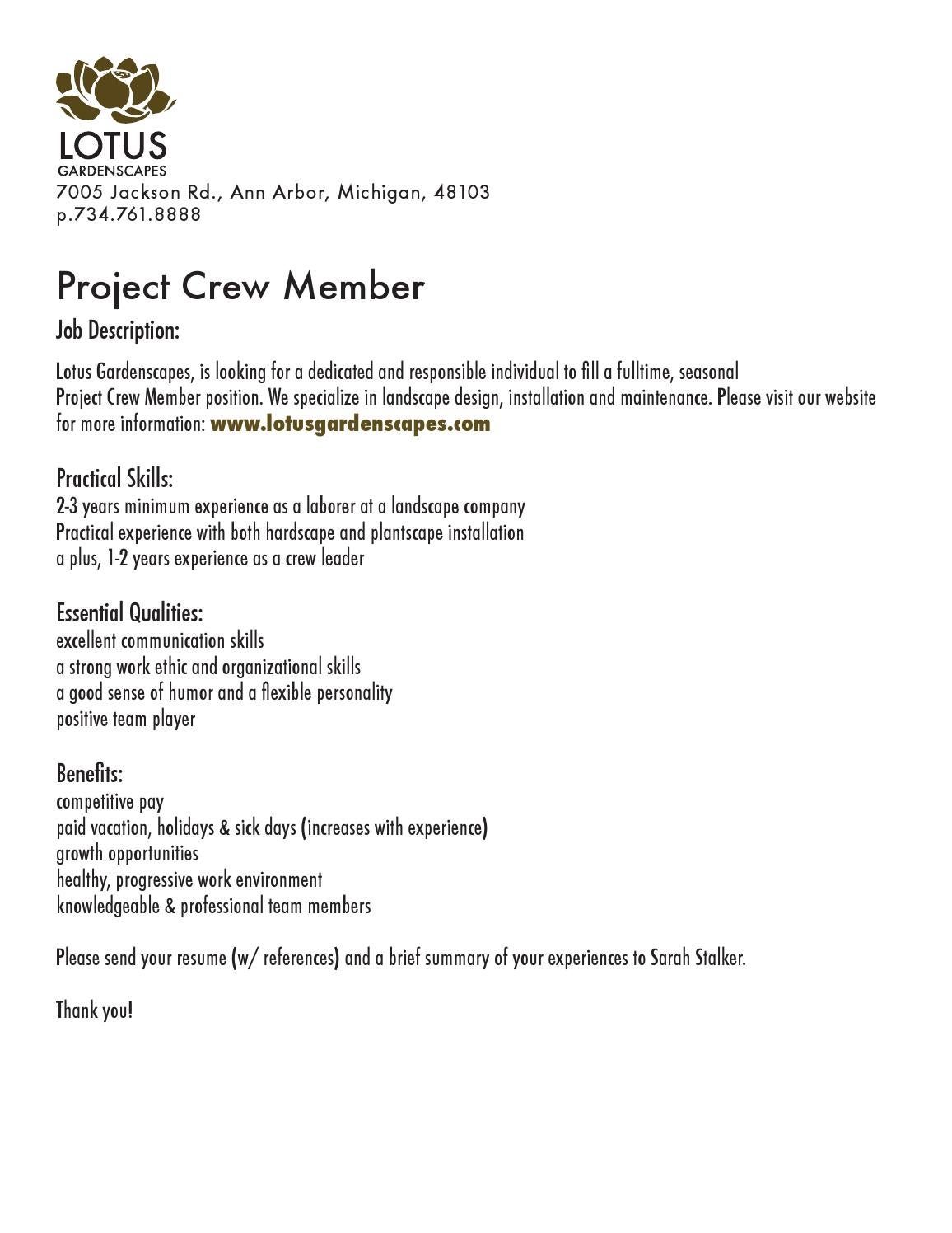 2014 project crew member by lotus gardenscapes inc issuu