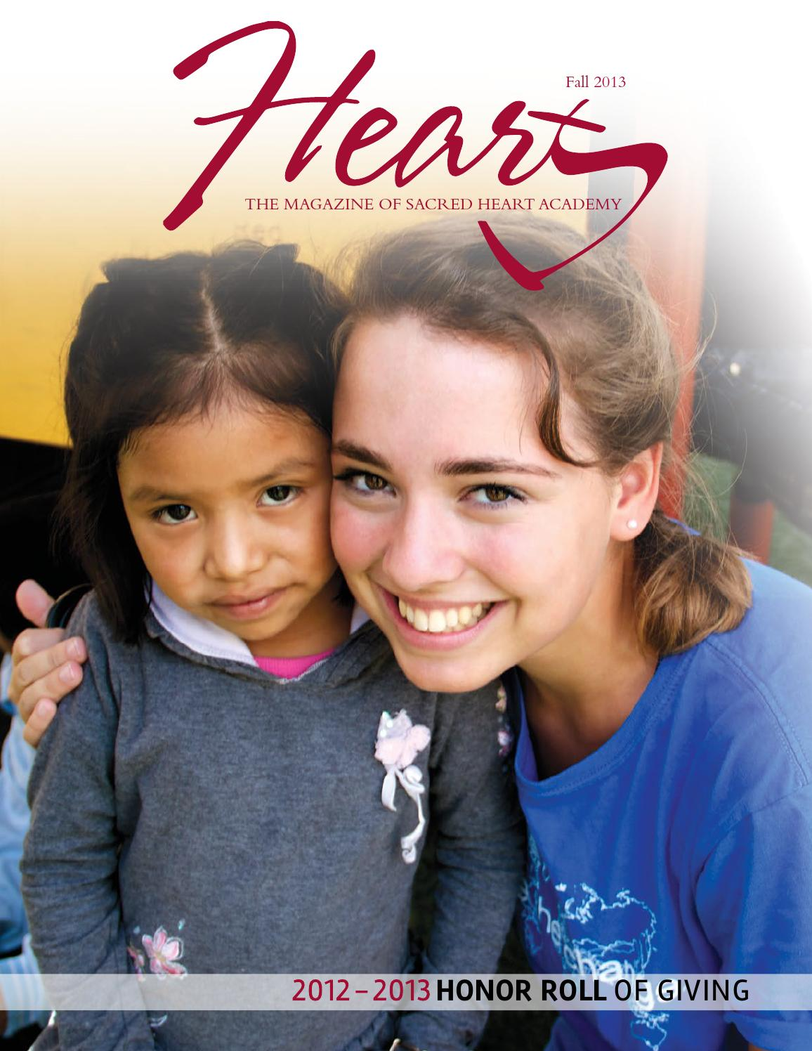 HEART Magazine Fall 2013 By Sacred Heart Academy Issuu