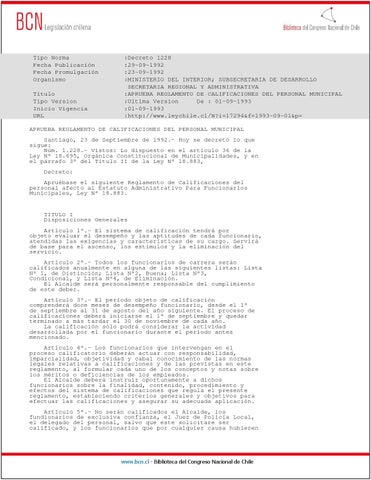21 decreto 1228 92 interior reglamento calificaci n for Decreto ministerio del interior