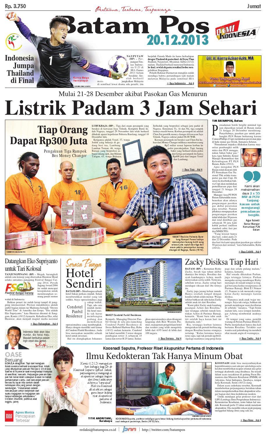 20 Desember 2013 by Batampos Newspaper - issuu f077dda2c2