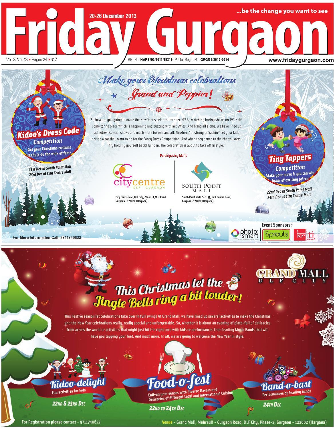 Frdiay gurgaon 20 26 dec, 2013 by Friday Gurgaon - issuu