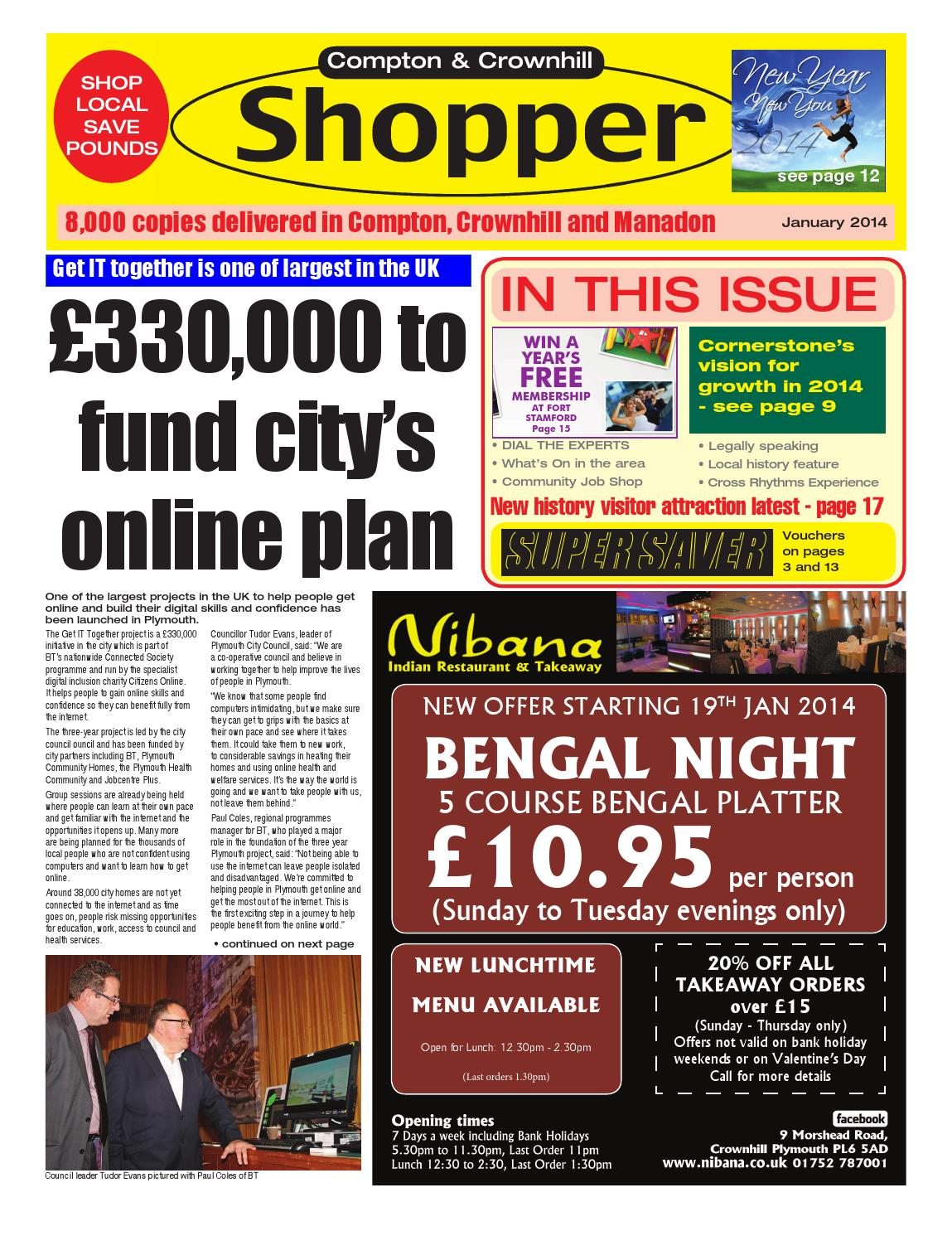 Plymouth Shopper January 2014 By Cornerstone Vision