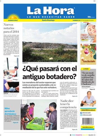 e6d809f9e La Hora Santo Domingo 20 diciembre 2013 by Diario La Hora Ecuador ...