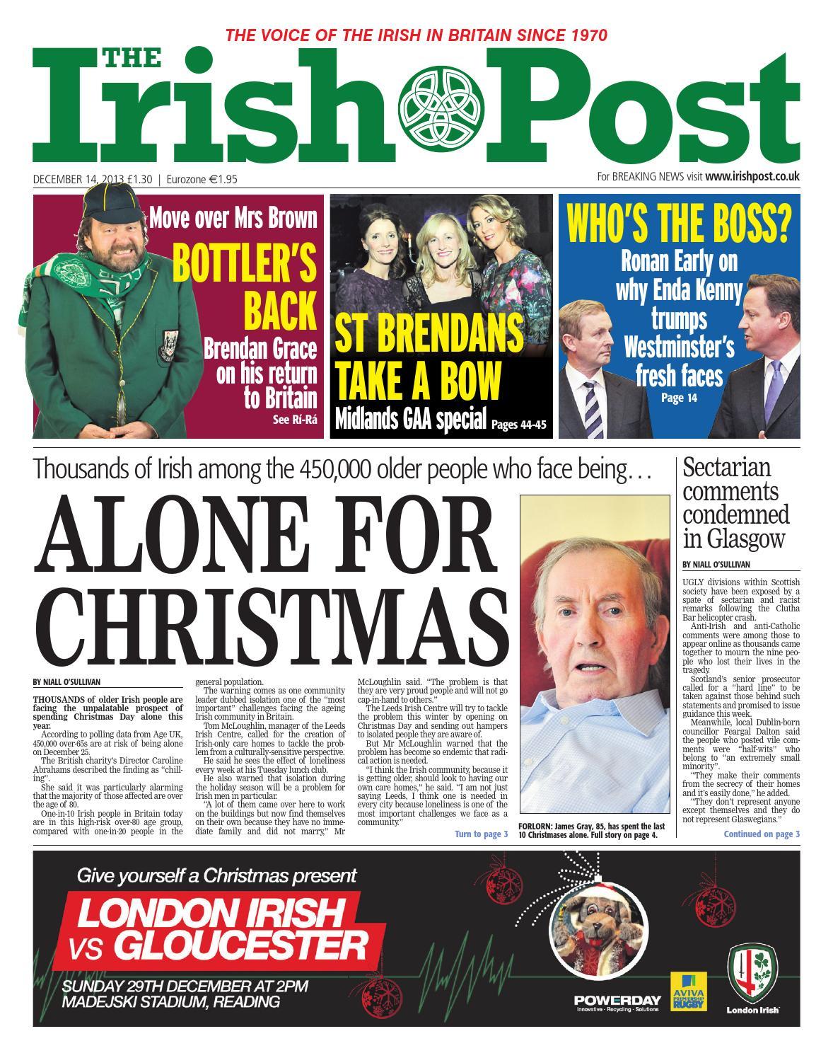 4df329de534b The Irish Post - December 14 2013 by The Irish Post - issuu