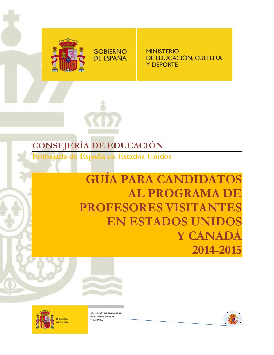 Guia General PPVV 2014 by Education Office of Spain in New York - issuu