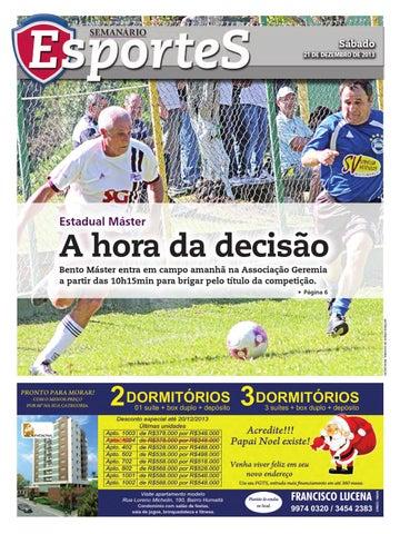 21 12 2013 - Esportes - Edição 2988 by Jornal Semanário - Bento ... c051efde2d268