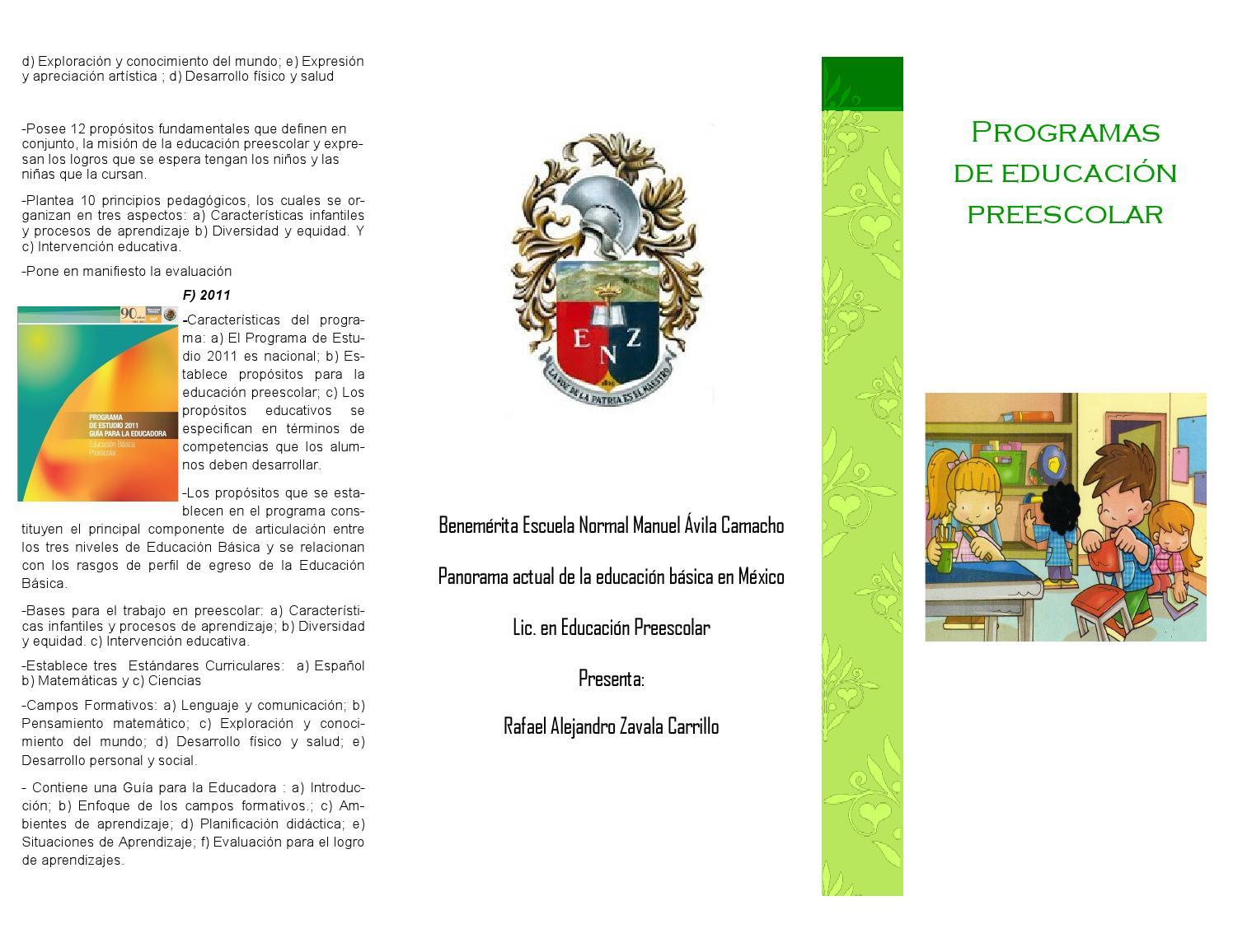 Programas de preescolar eva moreno s nchez by razc 93 for Estandares para preescolar