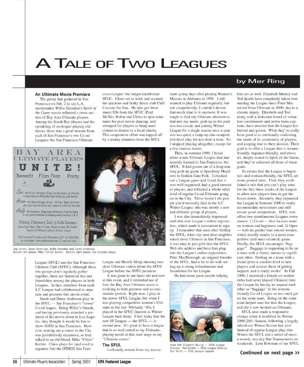UPA Newsletter: 2001 Spring by USA Ultimate - issuu