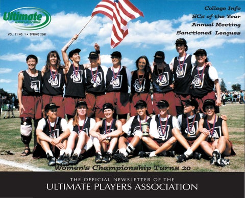 UPA Newsletter  2001 Spring by USA Ultimate - issuu be7515619edac