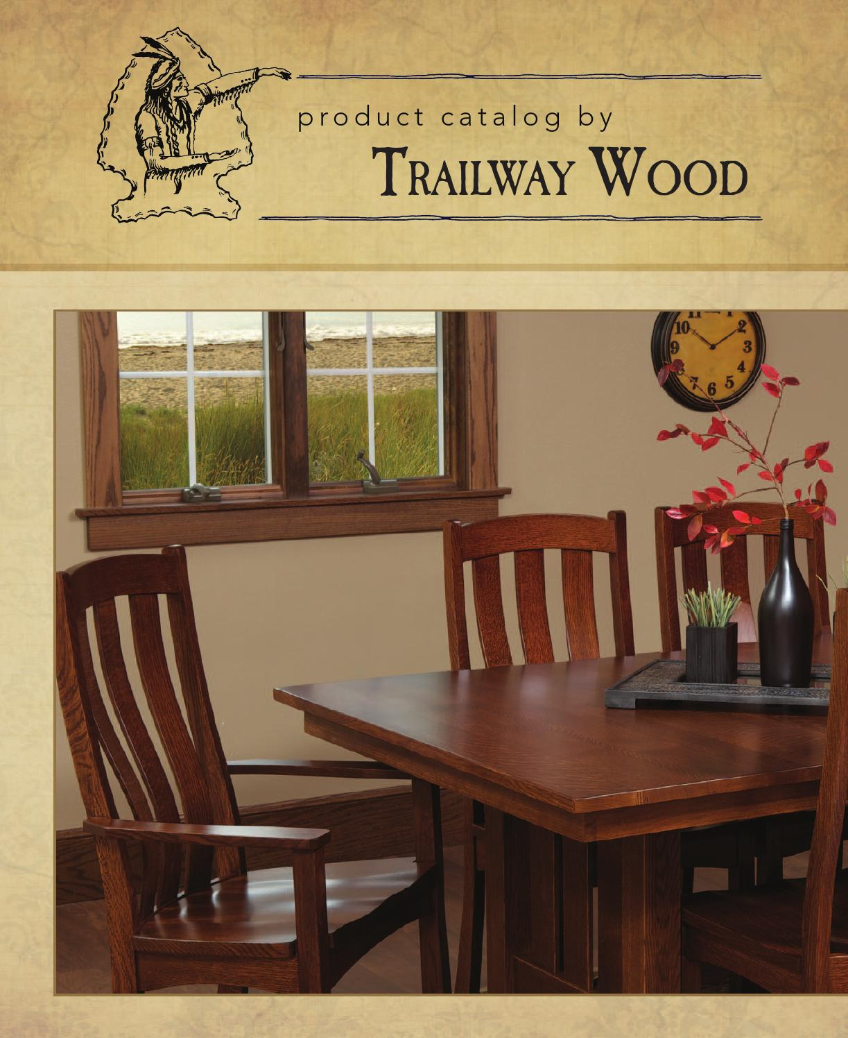 2011 Trailway Wood Catalog / Tables And Chairs / E U0026 G Amish Furniture By E  U0026 G Amish Furniture   Issuu