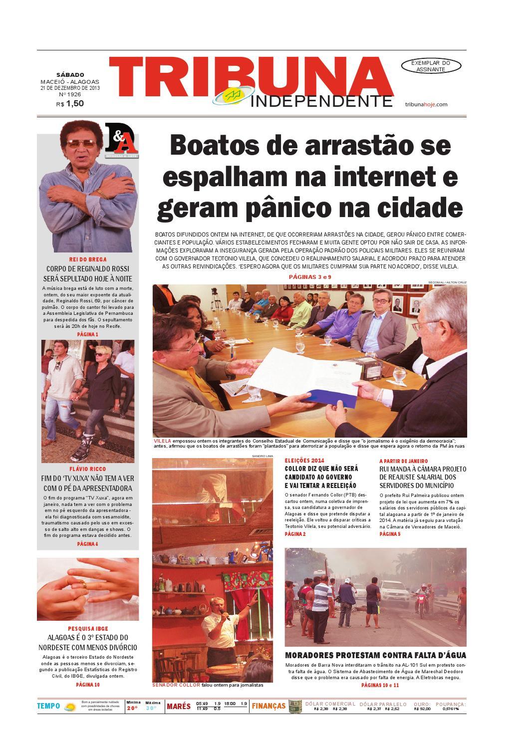 db377a445e9 Edição número 1927 - 21 de dezembro de 2013 by Tribuna Hoje - issuu