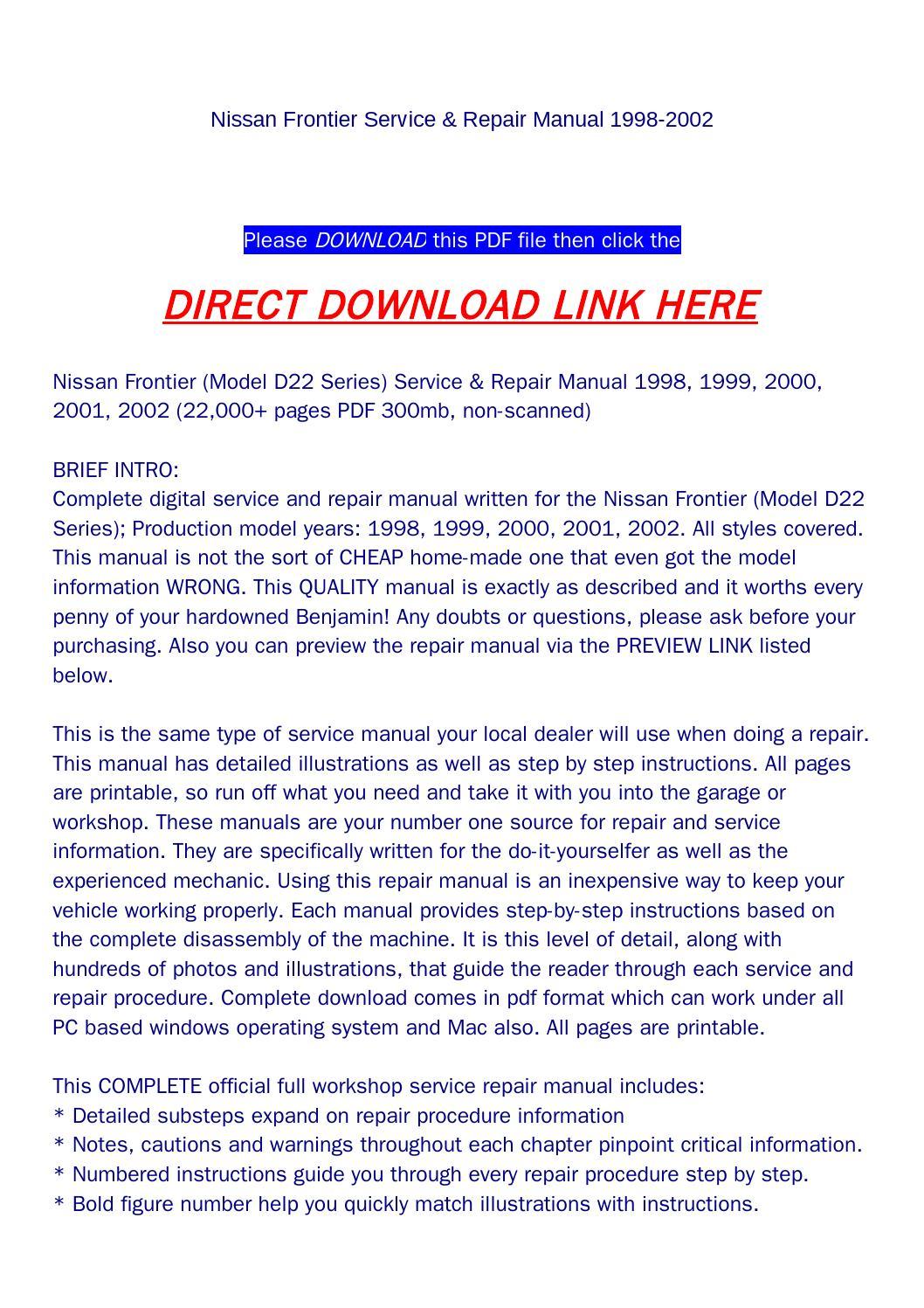 Nissan Frontier PDF Owner s Manuals
