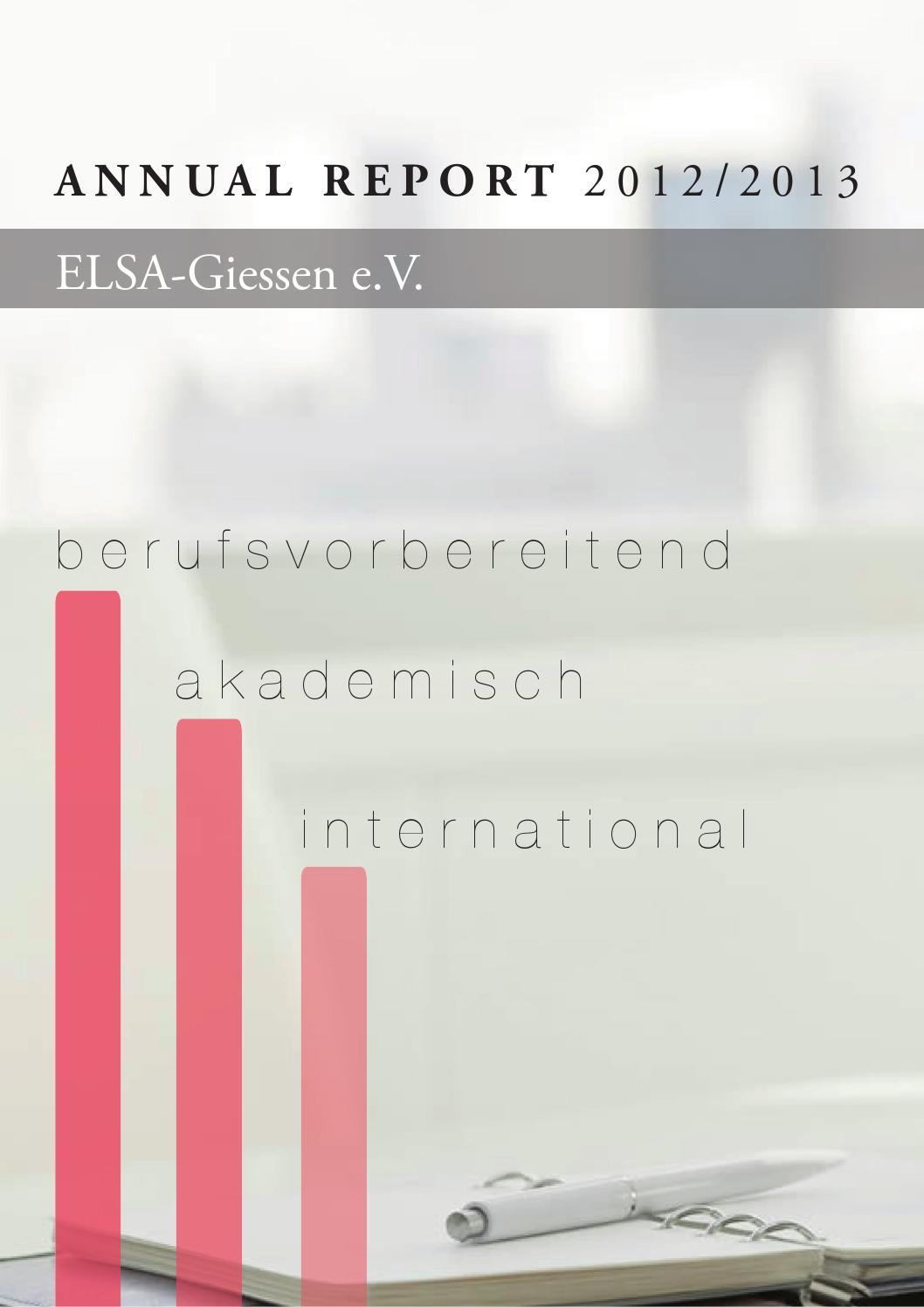 annual report of ELSA-Giessen e.V. 2012/2013 by ELSA-Giessen e.V. - issuu