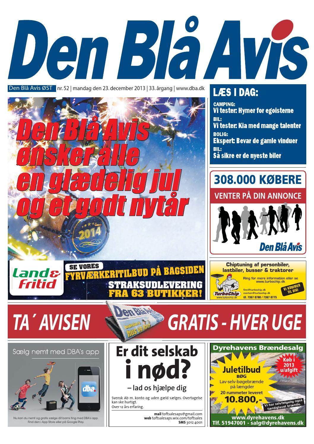 huge discount a8068 460cf Den Blå Avis ØST 52-2013 by Grafik DBA - issuu