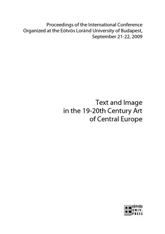 text and image in the 19 20th century art of central europe by