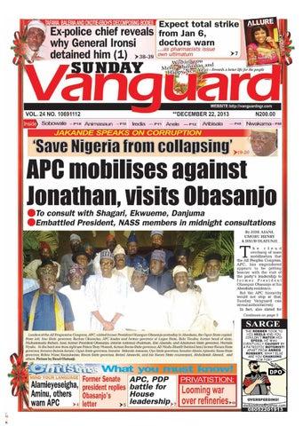 Apc Mobilises Against Jonathan Visits Obasanjo By Vanguard Media