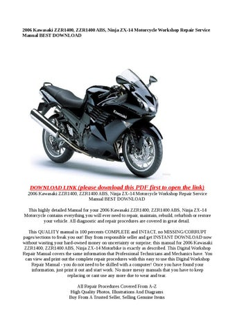 2006 kawasaki klx250 service manual
