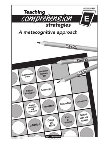 Teaching comprehension strategies book e ages 9 10 by teacher page 1 fandeluxe Image collections