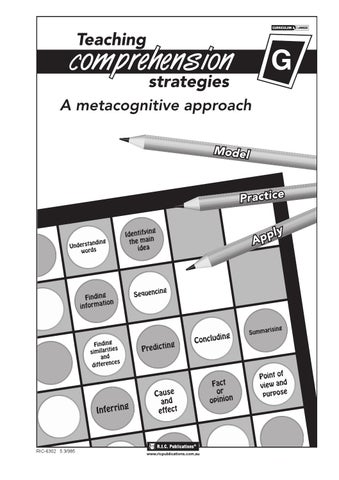 Teaching Comprehension Strategies Book G Ages 11 12 By Teacher