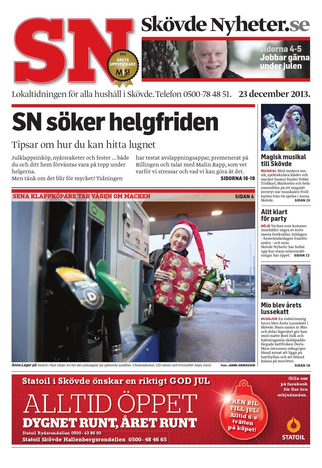 Sn 131223 by Skövde Nyheter - issuu 9cd3918096afe