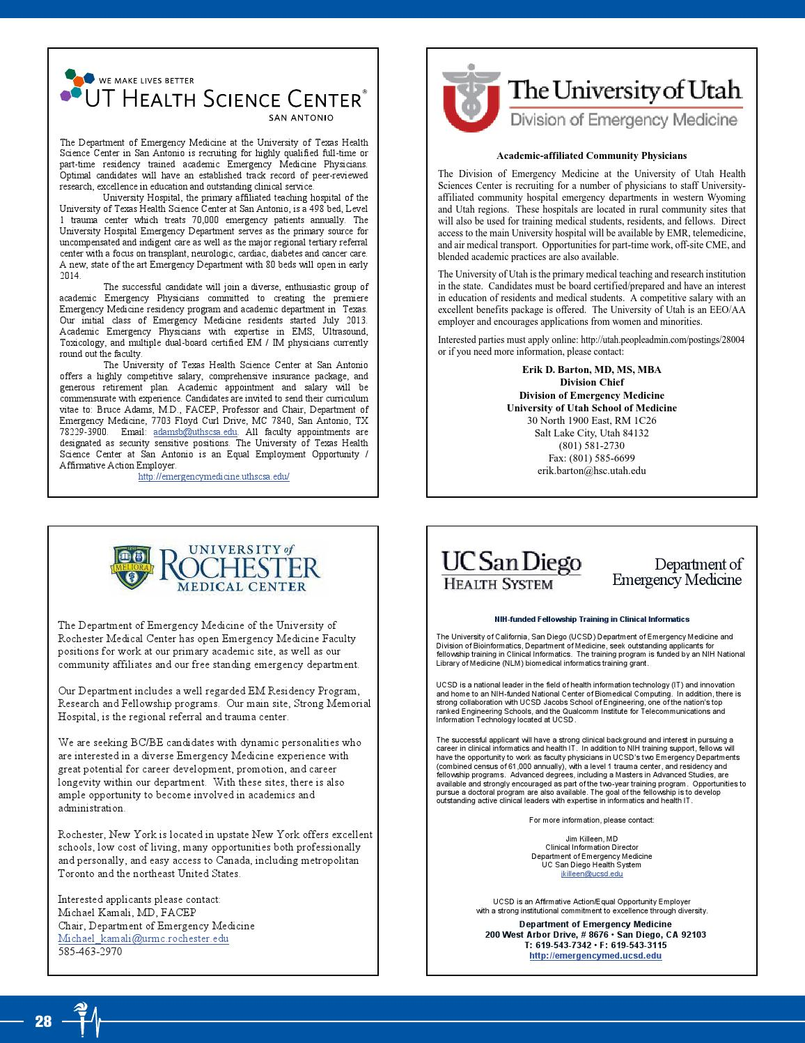 January-February 2014 SAEM Newsletter by Society for