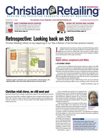 Christian retailing january 2014 by charisma media issuu page 1 fandeluxe Gallery