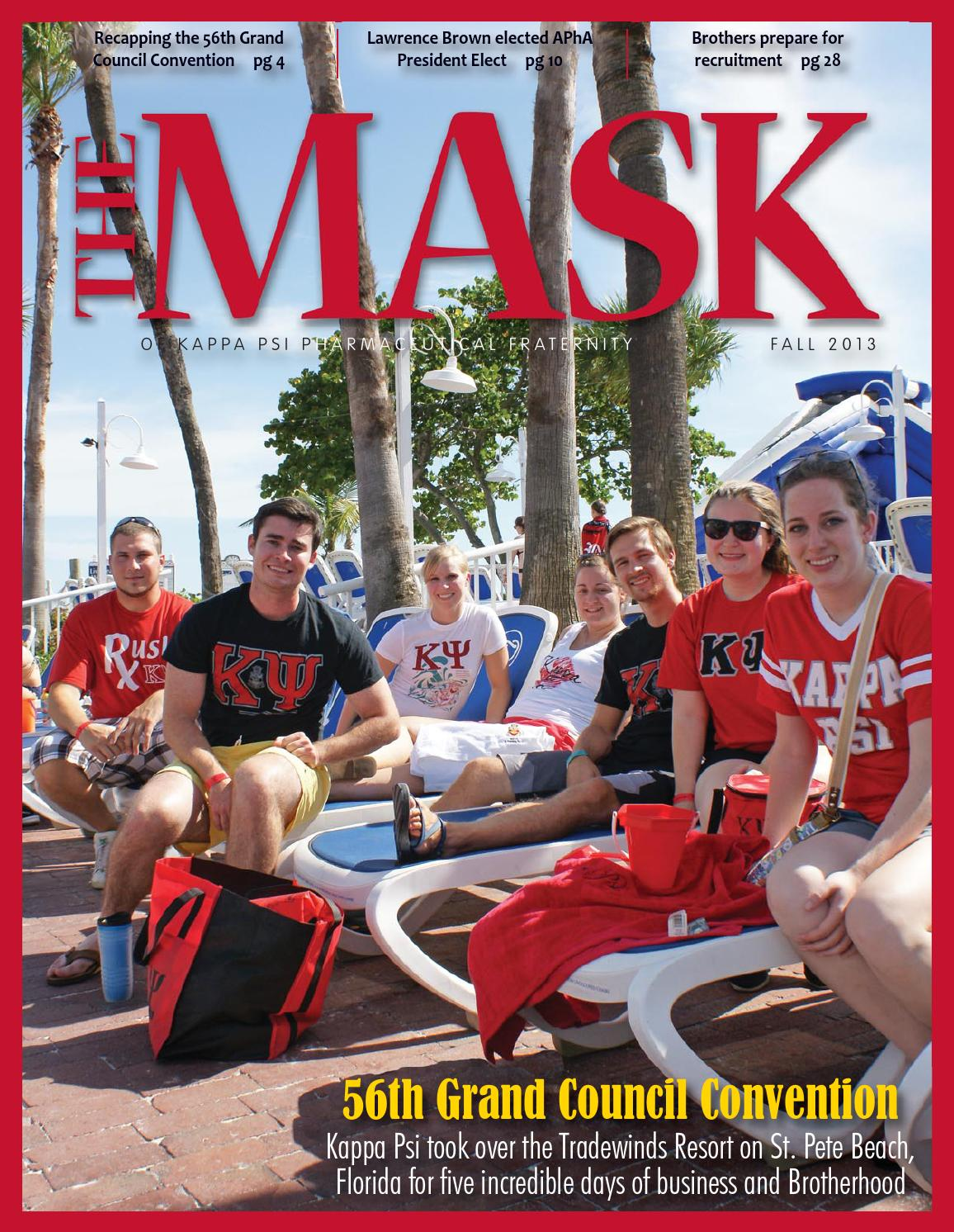 The Mask of Kappa Psi Pharmaceutical Fraternity Fall 2013 by Cameron