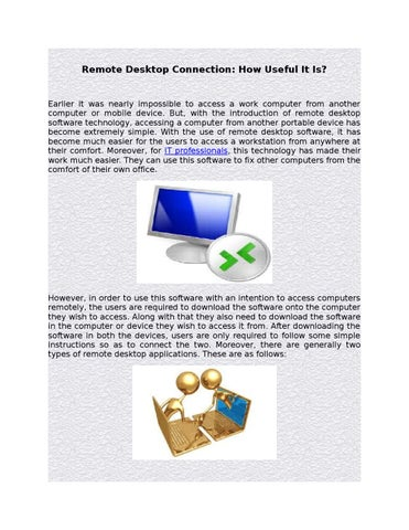 Remote Desktop Connection How Useful It Is By Advardkirsten Issuu