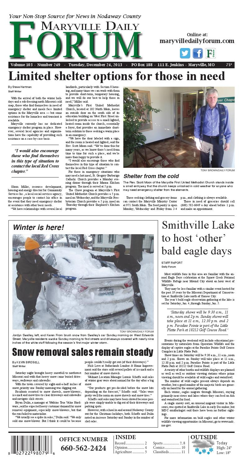 201f104d 12-24-13 Maryville Daily Forum by Maryville Daily Forum/The Post - issuu