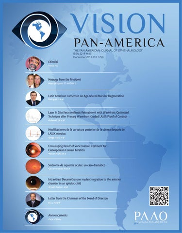 01d55183b7d3d VISION THE PAN-AMERICAN JOURNAL OF OPHTHALMOLOGY ISSN 2219-4665 December  2013, Vol. 12(4)