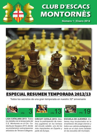 Revista C E Montornès Nº 1 By Montornés Escacs Club Issuu