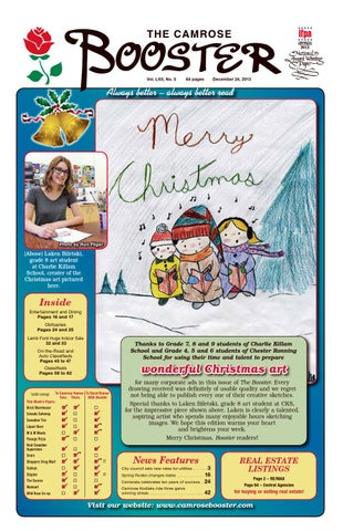 The camrose booster december 24 2013 by the camrose booster issuu page 1 publicscrutiny Image collections
