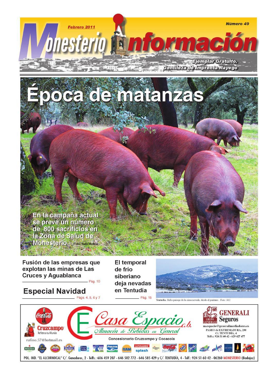 Monesterio Informaci N N 49 Febrero 2011 By Ayuntamiento De  # Muebles Nazaret Los Santos De Maimona