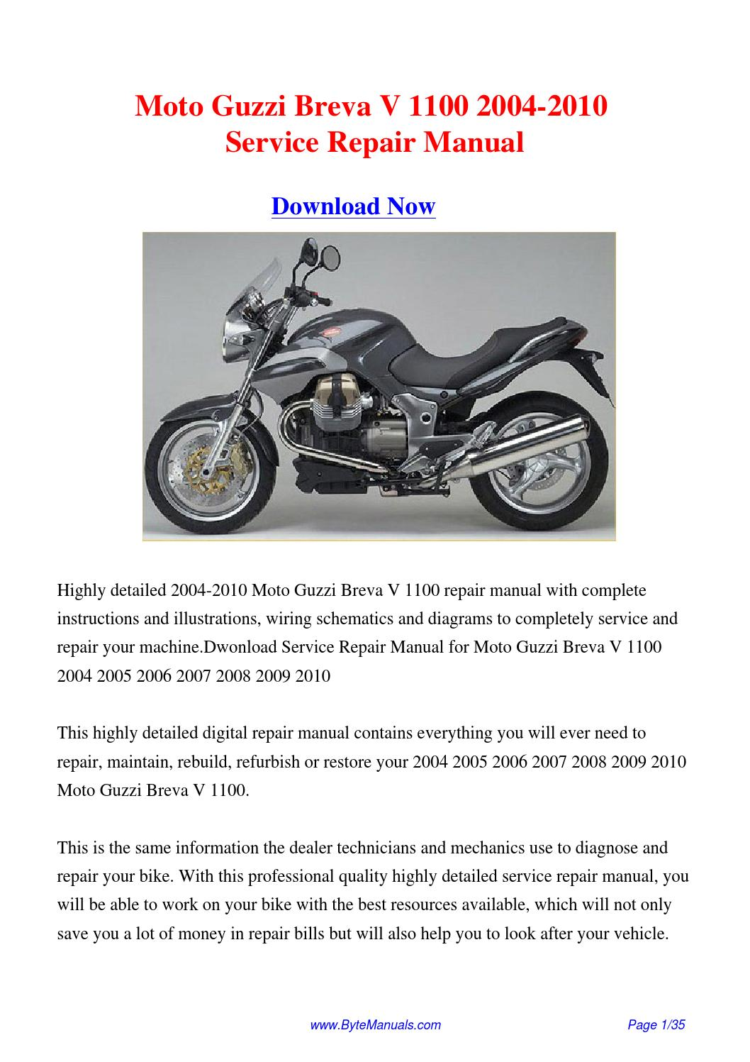 2004 moto guzzi breva 750 owners manual pdf