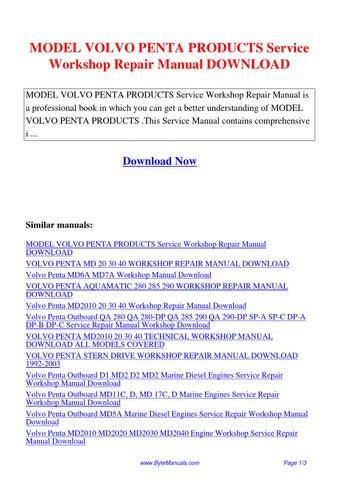 Array - model volvo penta products service workshop repair manual      rh   issuu com