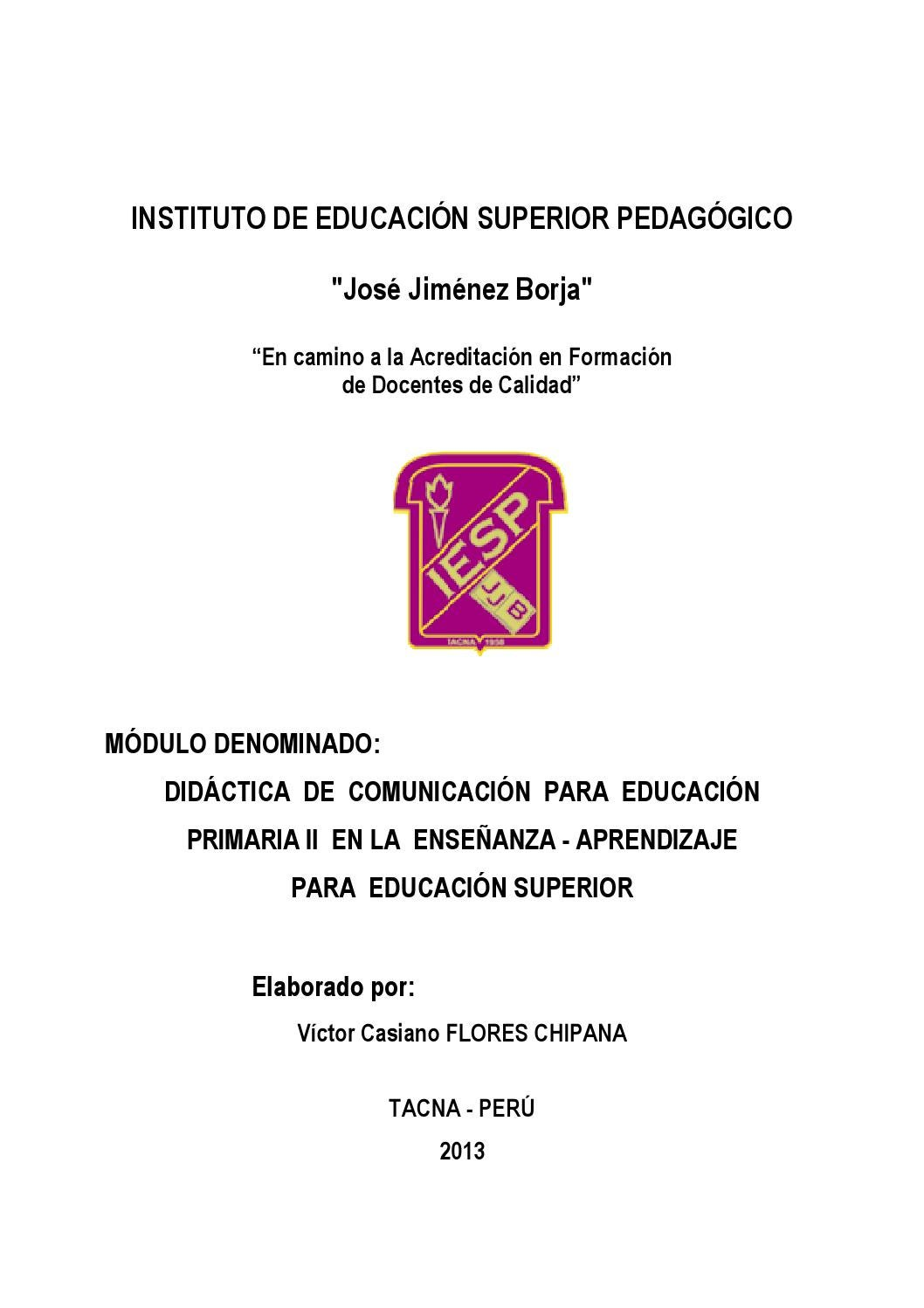Modulo Didactica De Comunicacion By Iesppjjb Issuu