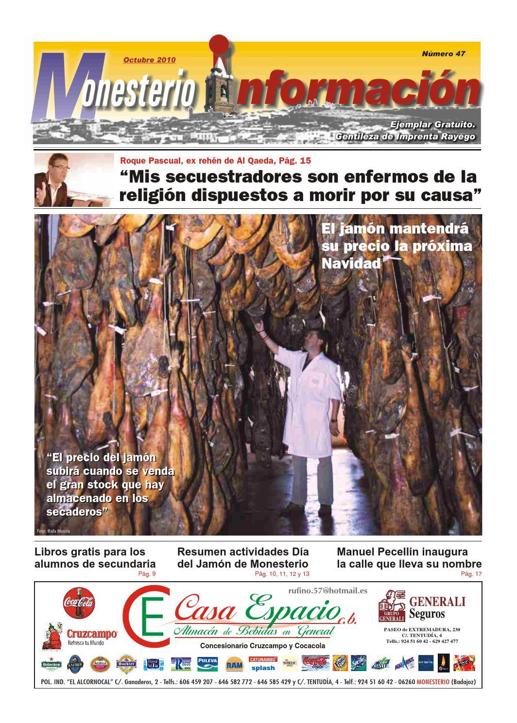 Monesterio Informaci N N 47 Octubre 2010 By Ayuntamiento De  # Muebles Nazaret Los Santos De Maimona
